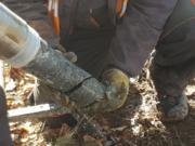Leśna - wiercenia rdzeniowe - rdzeniowanie - piezometry - MH-Geo (2)