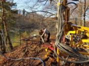 Leśna - wiercenia rdzeniowe - rdzeniowanie - piezometry - MH-Geo (1)